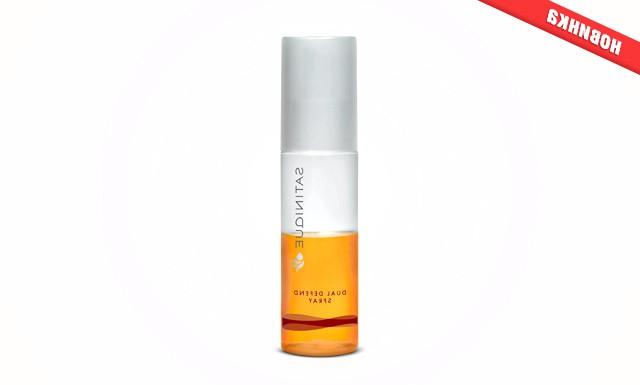 Захищає спрей для волосся від Satinique: Спрей містить екстракт граната, що надає здоровий зовнішній вигляд тьмяним волоссю, і масло виноградних кісточок для нейтралізації впливу несприятливих факторів навколишнього