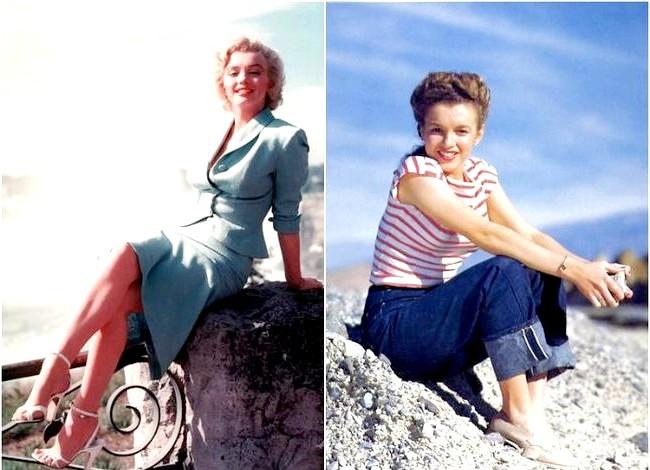 Зірки, які були і блондинками, і брюнетками: Мерилін Монро