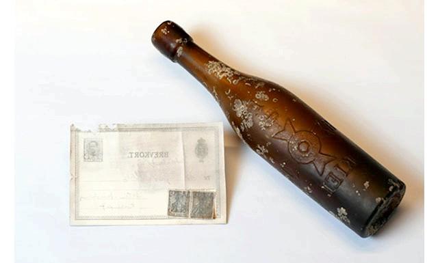 Лист у пляшці доставлено за адресою через сто років