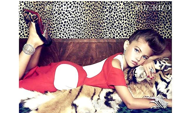 Занадто юні, щоб бути моделями ?: Блондо потрапила в модельний світ в 4 роки, рекламуючи на показі весняну колекцію Jean Paul Gautier. У віці 10 років