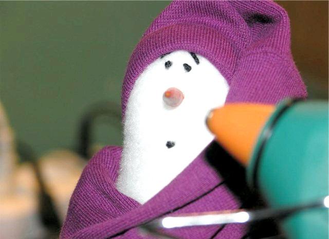 Сніговик бррр: Готовий сніговик. Брррр !!!!!