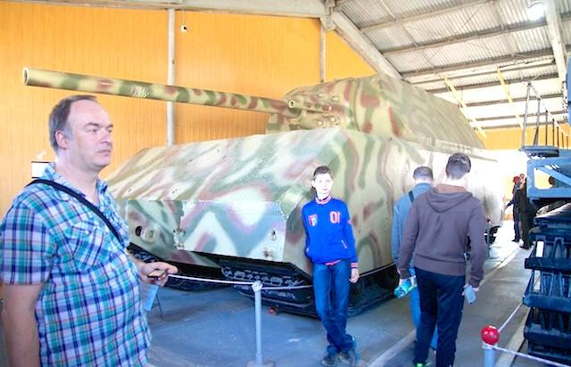 Танковий музей в Кубинці. Їхні .: Мишоночек!