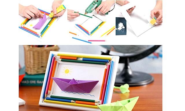 Робимо самі: подарунки до 23 лютого: [u] Вам потрібні: [/ u] дерев'яна рамка для фотографій 10х15 (в ідеалі - білого кольору, але можна пофарбувати будь-яку іншу в