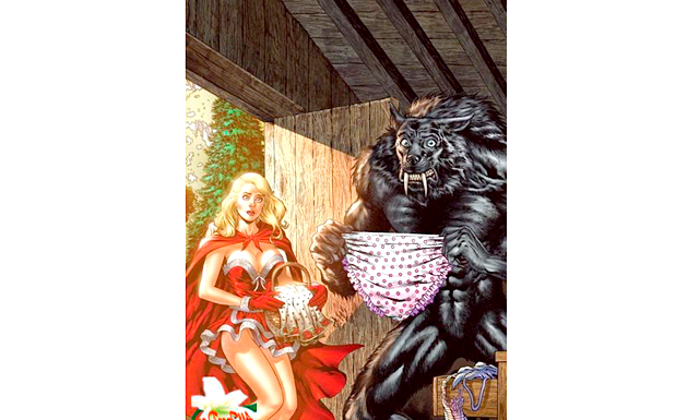Казки для дорослих: ЧЕРВОНА ШАПОЧКА [u] Що знають діти: [/ u] Дівчинка йшла лісом, познайомилася з вовком, той її обдурив і з'їв бабусю.