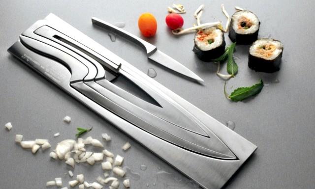 Розумний дизайн для маленької квартири: Ніж в ніж. Легко дістається, легко вкладається. І виглядає красиво.
