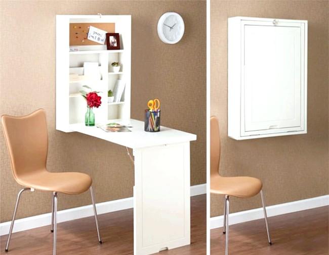Розумний дизайн для маленької квартири: Відкидний стіл. Захотів попрацювати - розклав столик, а в інший час нехай не займає багато місця.
