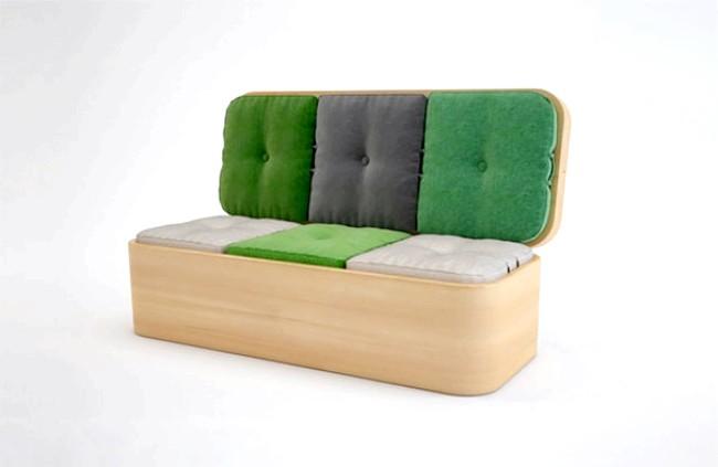 Розумний дизайн для маленької квартири: Диван для гарної компанії. Відмінне рішення для любителів чайних посиденьок.