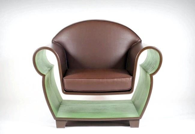 Розумний дизайн для маленької квартири: Крісло «Хранитель». Забудьте про книжкову шафу. В такому кріслі улюблена книга завжди під рукою.