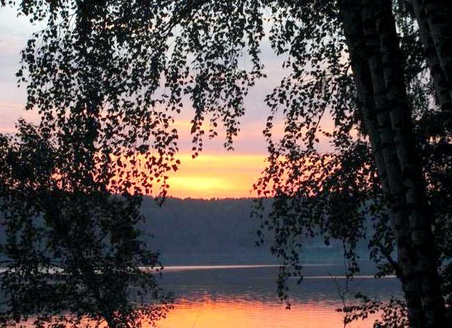 Вихідні на озері Інголь: Увечері теж дуже красиво!